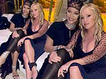 Real Housewives superfan Rihanna poses with Beverly Hills star Kathy Hilton