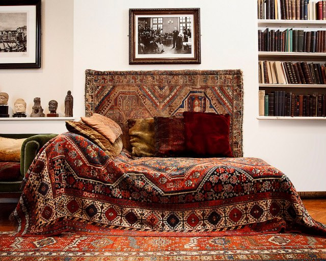 The museum was then set up four years later. Its centrepiece is Freud's original sofa (above) from Vienna. Patients sat on the piece of furniture when he psychoanalysed them