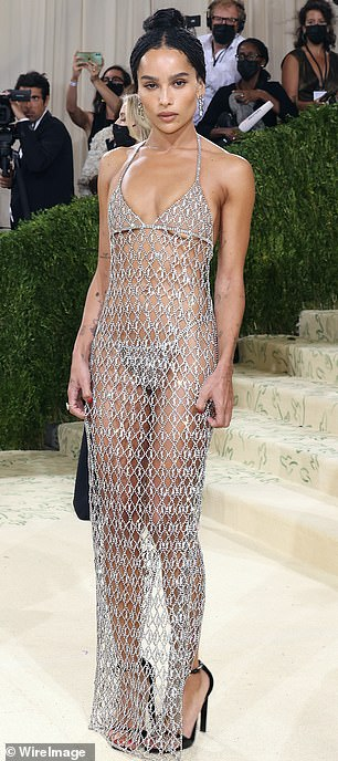 Strike a pose: Zoe dazzled at the Met Gala