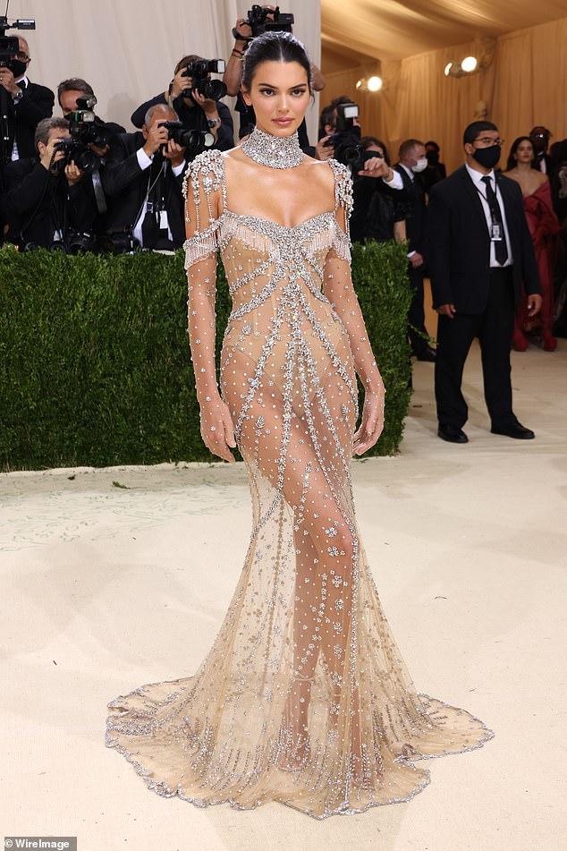 Sheer wonder:During last night's Met Gala, Kendall took her cues from Old Hollywood