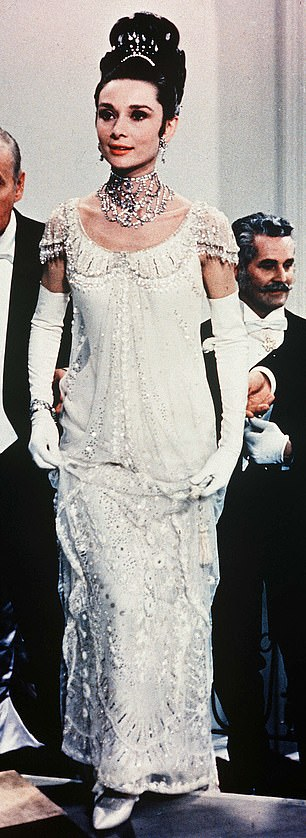 Inspiration: Fans of film were quick to recognize the inspiration for Kendall's frock, which appeared to be a sexy version of Audrey Hepburn's ball gown from 1964's My Fair Lady, above