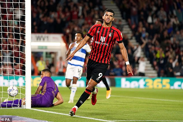 Bournemouth's Dominic Solanke turned home Anthony's pinpoint low cross inside the box