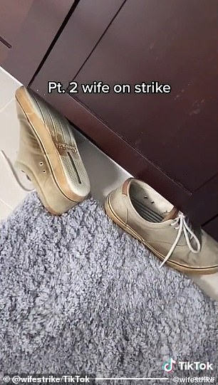 Mess: Things quickly started falling apart in the house, and she showed how their laundry was overflowing and his shoes were left on the floor