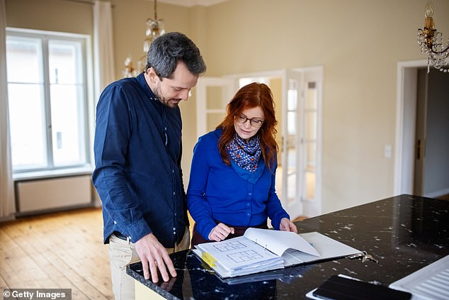 Make decisions around the structure of the home in order to maximise the space and the potential options for you to rent it out later,' Mr Roper said (stock image)
