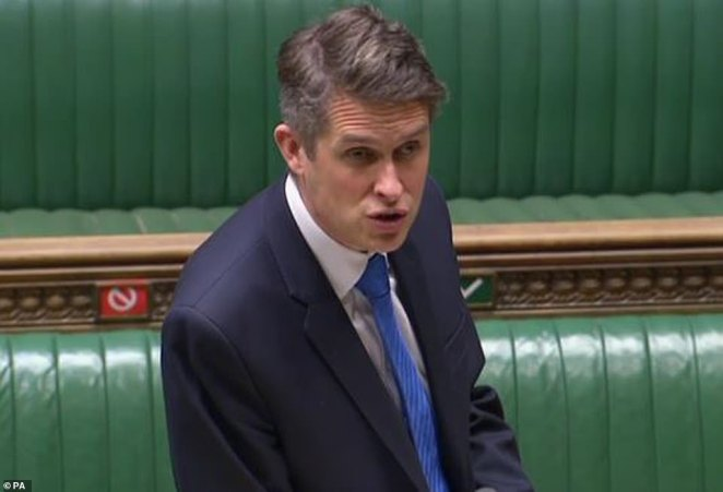The embattled Education Secretary Gavin Williamson (pictured in February) and his department have been pushing for such a rollout, terrified of the militant teaching unions who refused to work at the height of pandemic