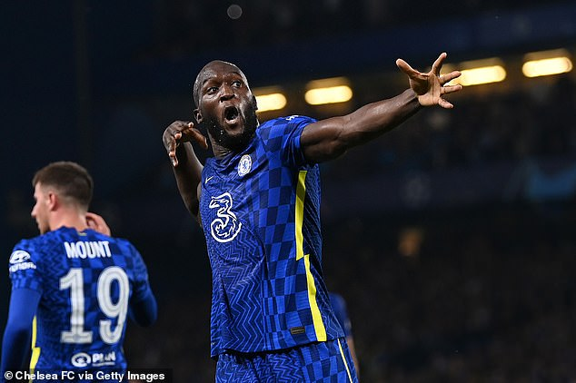 Romelu lukaku celebrates after scoring the only goal of the game against Zenit St Petersburg