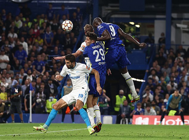 The striker rose highest to head home from Cesar Azpilicueta's cross in the second half