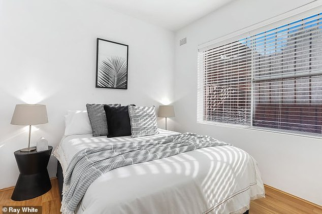 Light-filled: The tightly-held unit has two bedrooms which have been freshly painted