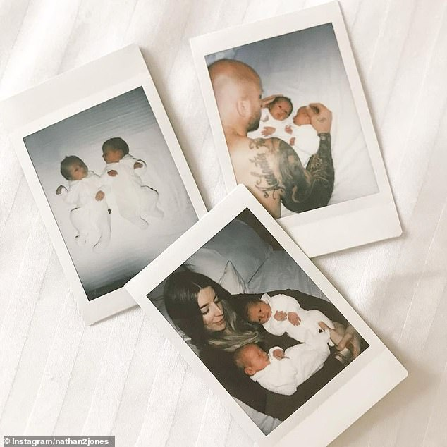 Happy: The father-of-four announced the arrival of the twins on his Instagram page on Tuesday