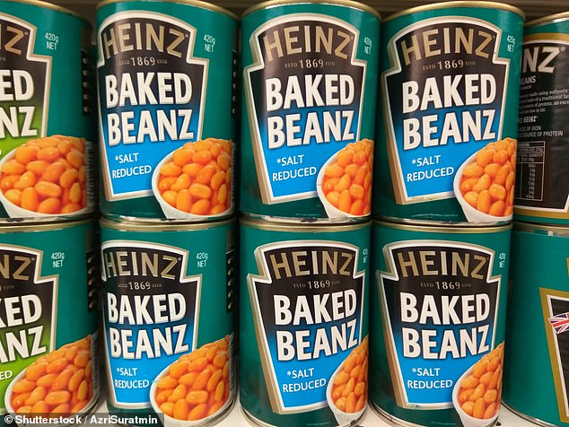 Shopkeepers were urged yesterday not to sell baked beans to children in case they were poured over people¿s homes as part of an online trend (stock image)