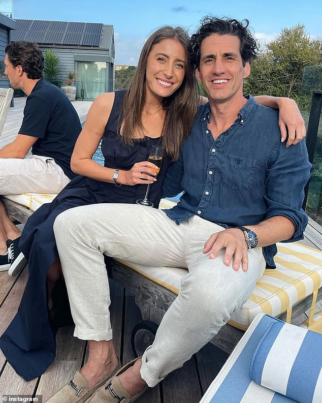 Beginnings:The couple met at a Melbourne café where she was working as a waitress in 2014 when he left his email address for her on a napkin. Andy and Rebecca didn't go public with their romance until January the following year
