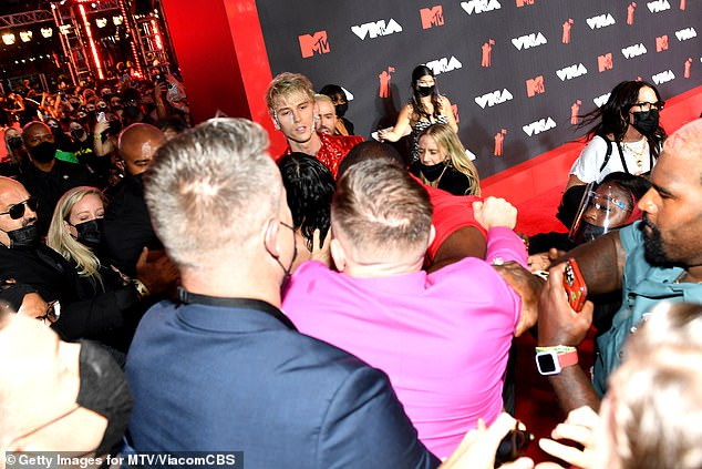 Duking it out: Machine Gun Kelly recently got into a fight with Conor McGregor at the2021 MTV Video Music Awards after the pair 'exchanged some words'