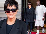 Kris Jenner teams a sharp blazer with sporty leggings while out with boyfriend Corey Gamble in NYC