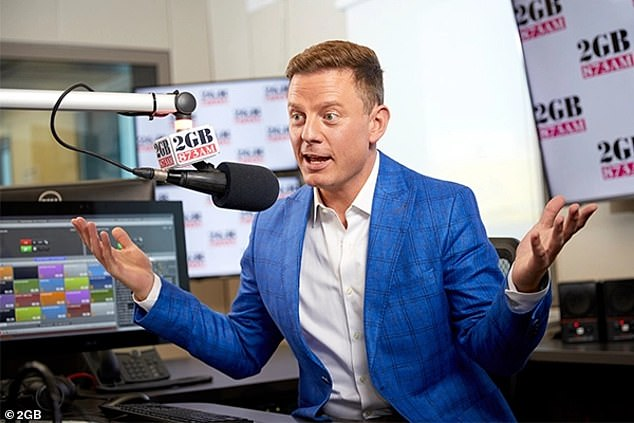 Success story: Breakfast radio royalty Kyle Sandilands and Jackie 'O' Henderson were recently dethroned by AM 2GB's Ben Fordham (pictured) in recent Sydney ratings