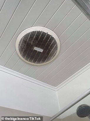Other places to clean include the exhaust fans