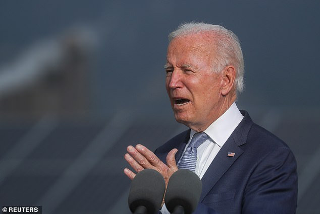 President Joe Biden allegedly told Manchin in March of last year that if he didn't back his $1.9trillion Covid-19 stimulus package, 'you're really f***ing me,' according to a new book by veteran journalists