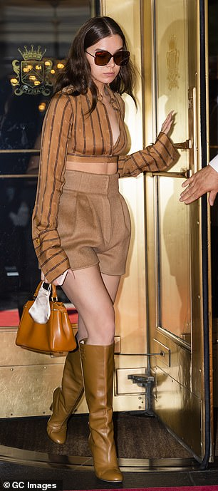 Double trouble: Hailee Steinfeld was seen on a couple of different outings in New York City on Tuesday night