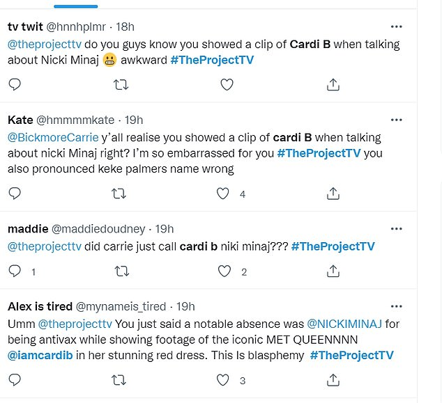 'Blasphemy': Many viewers called Carrie out for her mistakes