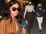 Hailee Steinfeld dons cropped blouse before changing to take grandmother out to dinner in NYC