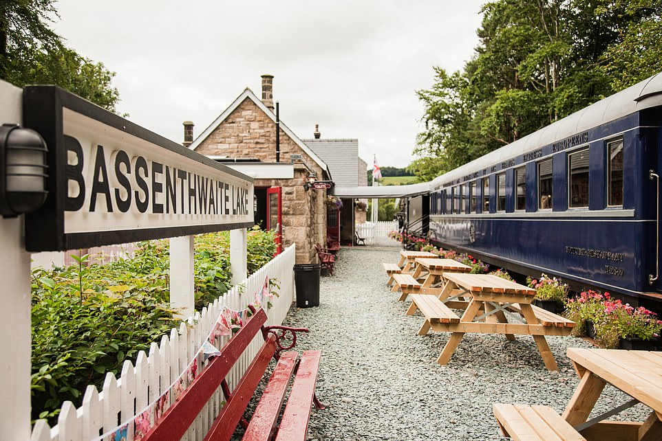 The last train departed from Bassenthwaite Lake Station on April 18, 1966. After that the site became derelict, but Di and Simon Parums have restored it and turned it into a tourist attraction (pictured). The replica train that was built to film Kenneth Branagh's Murder on the Orient Express is the centrepiece of the site