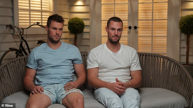 Doing it tough: Luke and Josh Packham made an emotional appearance on Wednesday's episode of The Block