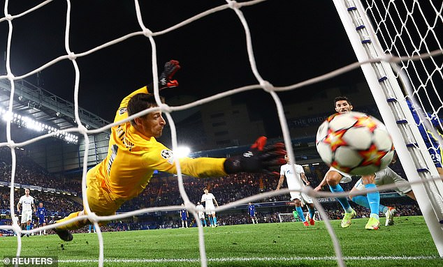 The Belgian forward scored his fourth goal in four matches with a little over 20 minutes behind Cesar Azpilicueta's cross during a 1-0 win at Stamford Bridge (above).