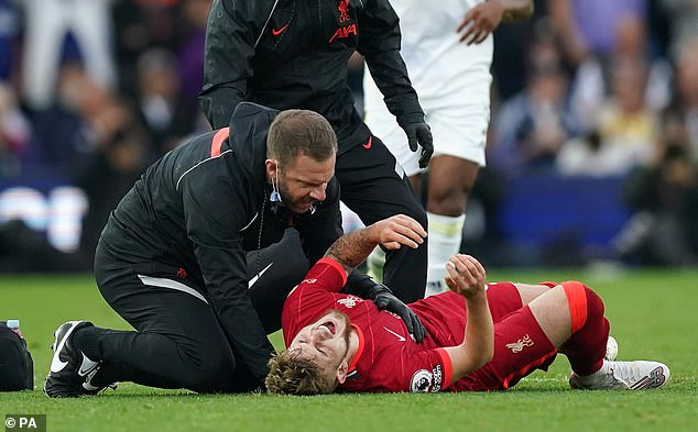 Harvey Elliott amputated his ankle in the challenge and had surgery on Tuesday