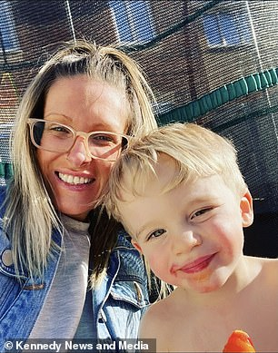 Katie and her son Buddy.  The mother-in-law of the five children revealed that she was advised to have an abortion while pregnant due to serious complications that threatened her life, but she refused to do so.