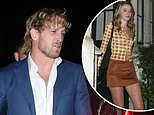 Logan Paul keeps a low profile as he leaves Chiltern Firehouse with a mystery woman