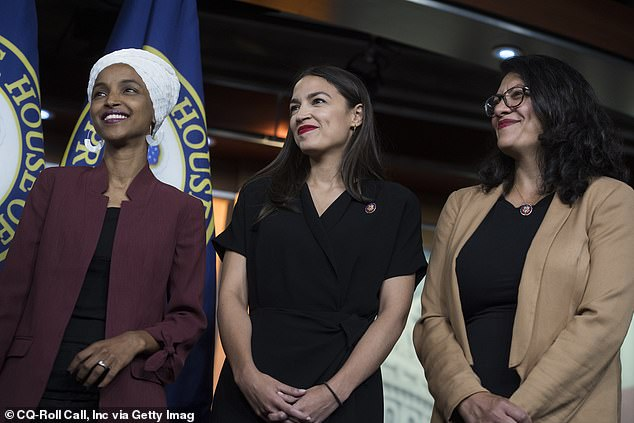 The Democratic congresswoman is a member of the 'Squad', a group of radical new leftist politicians