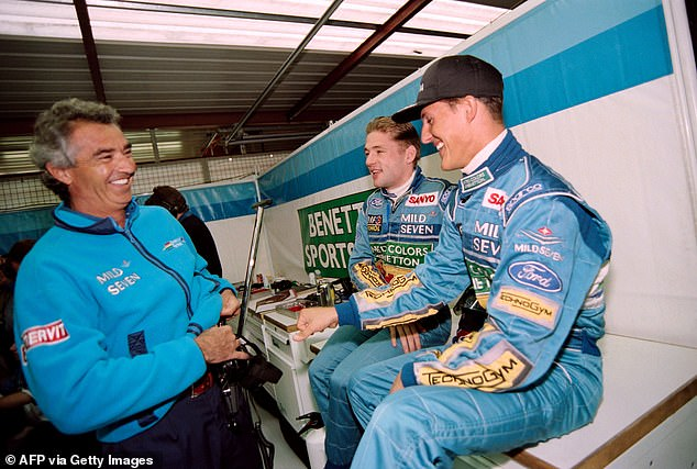 Schumacher won the championship that year after a controversial collision with Damon Hill
