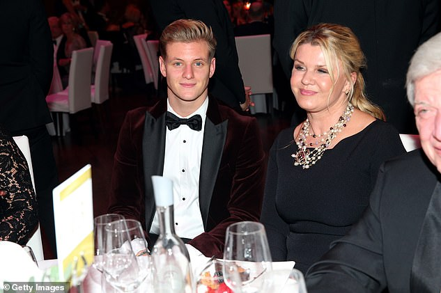 Mick Schumacher and his mother Corinna during the German Sports Media Ball in Frankfurt in November 2019