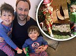 Jimmy Bartel shares cute pictures with his sons in their yard as they dress in superhero costumes