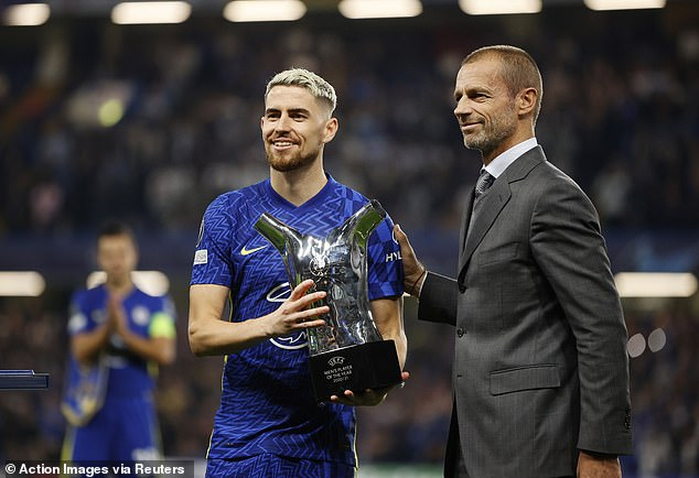 Jorginho was crowned as the UEFA Player of the Year on Tuesday night at Stamford Bridge