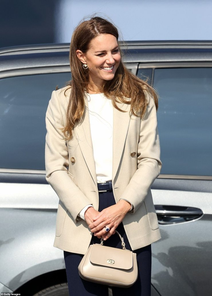 The Duchess of Cambridge arrives at RAF Brize Norton today to meet those who supported the evacuation from Afghanistan
