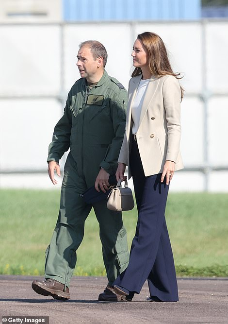 Kate visits RAF Brize Norton in Oxfordshire today
