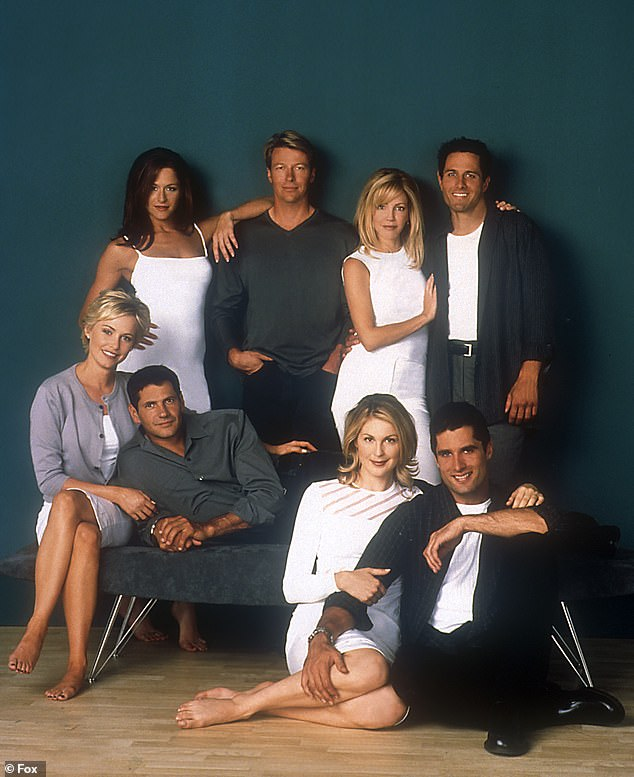 The cast: (clockwise from top left) Rob Estes, Locklear, Jack Wagner, Jamie Luner, Josie Bissett, Thomas Calabro, Kelly Rutherford, John Haymes Newton