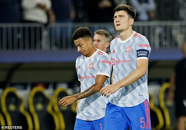 Nightmare:There were as many red faces as red shirts at Bern's Stadion Wankdorf on Tuesday evening after a dreadful back pass from Jesse Lingard allowed the home-side the winning goal