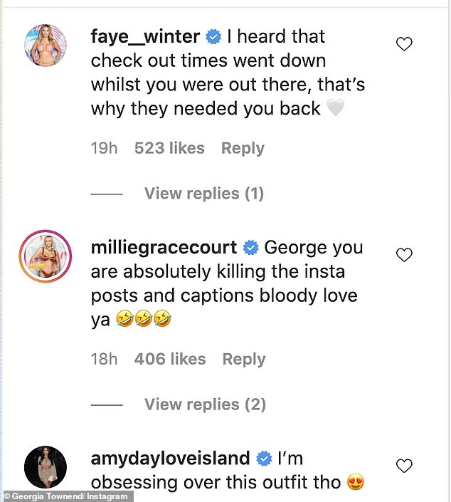 Love Island's Georgia jokes 'checkouts should be as speedy' as she returns to her day job in Lidl