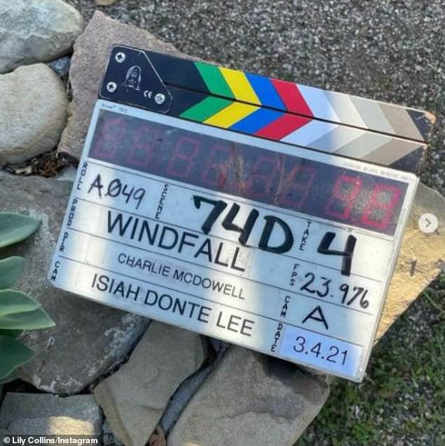 Couple collaboration: Earlier this year, McDowell wrapped his forthcoming film Windfall, which he produced with Collins, which will stream next year on Netflix