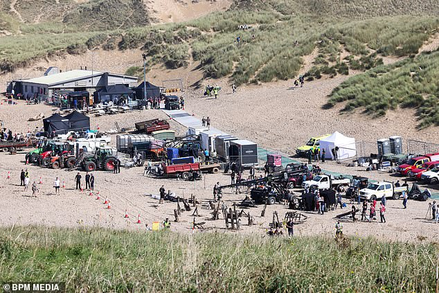 Production:And filming for the upcoming show continued on Wednesday as cast and crew gathered at Holywell Bay in Cornwall