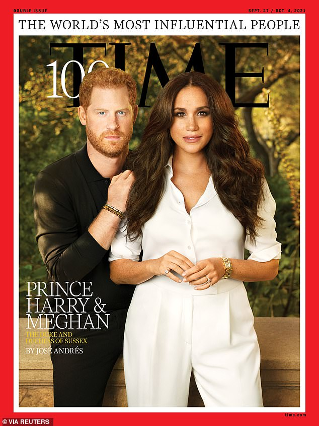 Influencers:Prince Harry and Meghan Markle appear as the the Time 100 cover stars for the 2021 issue with a profile penned by chef and philanthropist Jose Andres