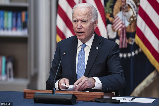 Trump knocked President Joe Biden's job performance thus far saying Tuesday night, 'our country has gone really downhill in the last eight months, like nobody's ever seen before'