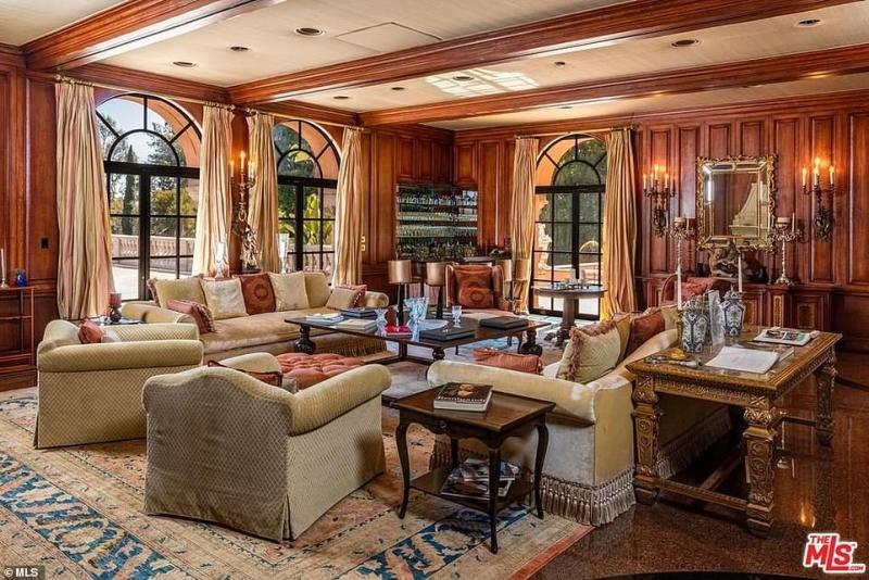 With wide windows and high ceilings, there is plenty of natural light in the legendary LA home