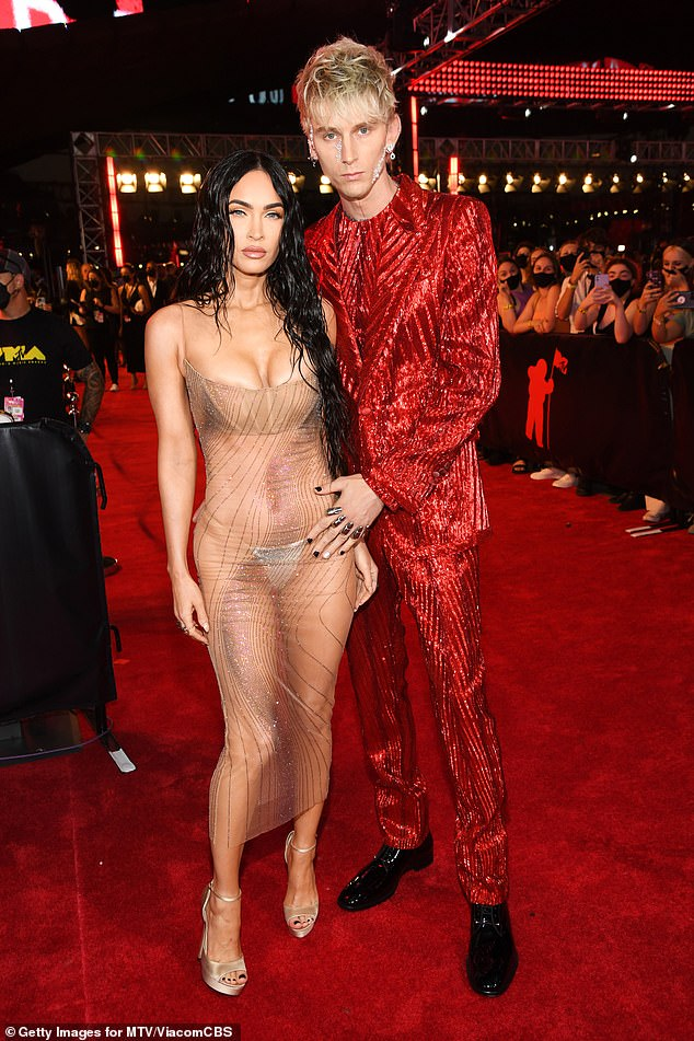 Complementary fashion: Earlier this week the couple appeared together at the MTV Video Music Awards where they turned heads during an eventful night
