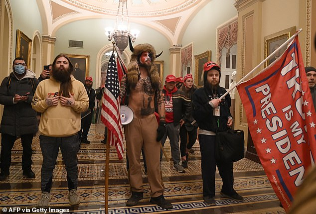 Images from Jan. 6 show rioters wearing MAGA hats and waving Trump flags as they stormed the U.S. Capitol. The events of that triggered President Trump's second impeachment