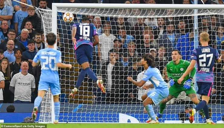 Nkunku hauled the German side back into contention after half-time with another header for his second goal of the game