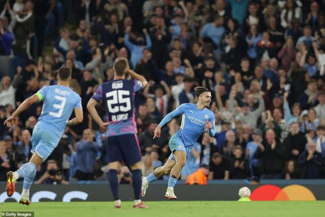 But midfielder's Grealish's curling strike eased the nerves for English side City after a swift breakaway down the left-hand side
