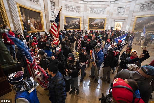 The rioters managed to make it into the Capitol after breaking in and posted pictures and videos on social media
