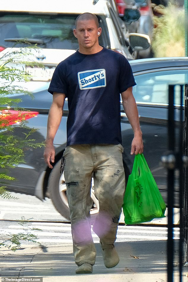 Doing his thing: Meanwhile, Zoe's rumored new beau, Channing Tatum was spotted in a different Big Apple locale running a shopping errand